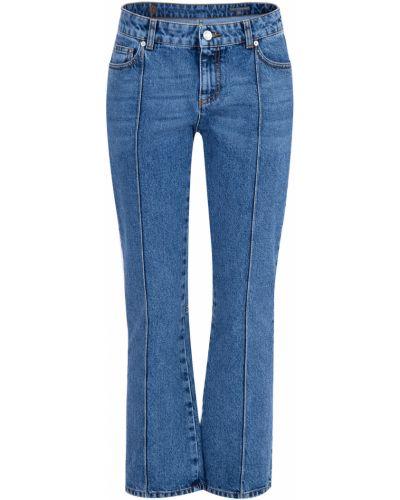 Укороченные джинсы расклешенные винтажные Alexander Mcqueen