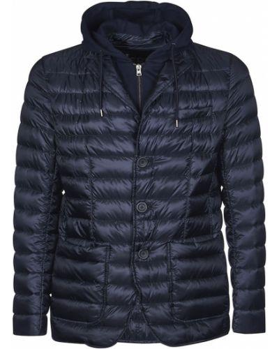 Niebieska kurtka z nylonu Herno