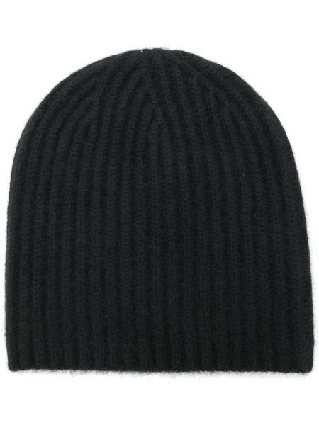 Кашемировая черная теплая шапка бини Warm-me