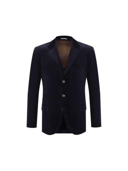 Классический пиджак бархатный вельветовый Brunello Cucinelli