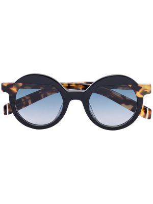 Муслиновые черные солнцезащитные очки круглые Kaleos