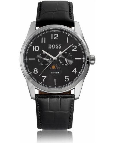 Часы водонепроницаемые универсальный черный Hugo Boss
