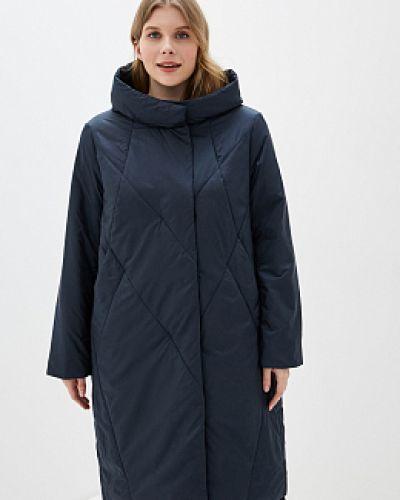 Пальто с капюшоном - синее Winterra