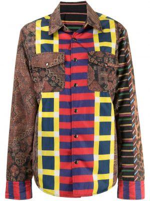 Коричневая рубашка из полиэстера Pierre-louis Mascia