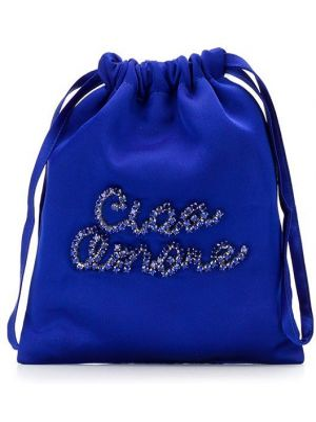 Niebieska torebka srebrna Giada Benincasa