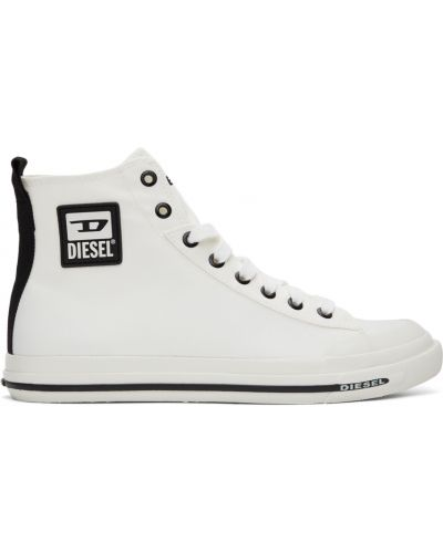 Кроссовки на каблуке - белые Diesel