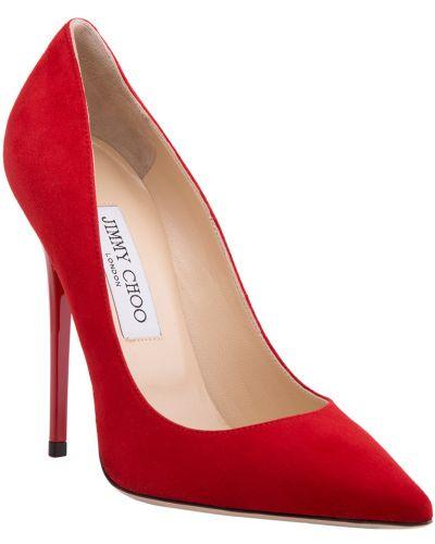 Красные туфли на каблуке Jimmy Choo
