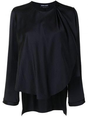 Черная шелковая блузка Giorgio Armani