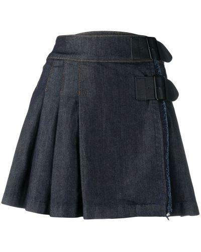 Юбка мини плиссированная джинсовая Benetton