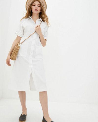 Белое платье рубашка Ricamare