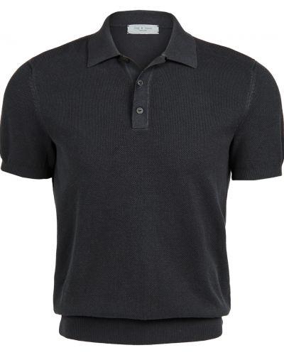 Koszulka bawełniana krótki rękaw prążkowana Rag & Bone