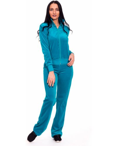 Домашний костюм велюровый голубой Lacywear