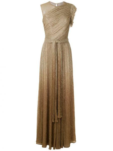 Приталенное платье с оборками с драпировкой без рукавов Reinaldo Lourenço