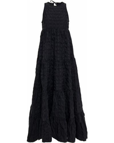 Czarna sukienka długa Marques Almeida