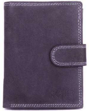 Czarny portfel skórzany elegancki Solier