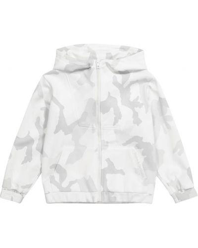 Biała kurtka bawełniana szkolna Dolce & Gabbana Kids