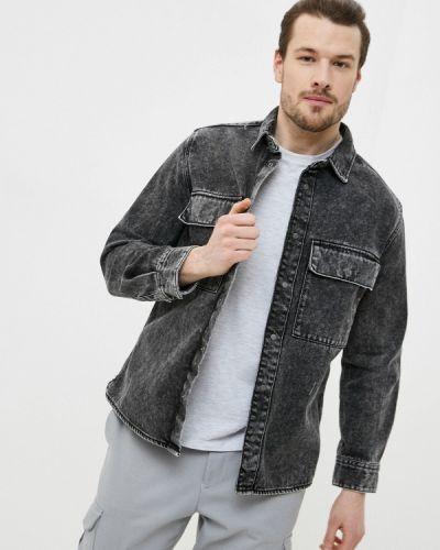 Серая джинсовая рубашка Ostin