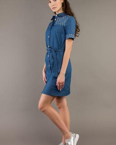 Джинсовое платье на пуговицах платье-рубашка ангелика