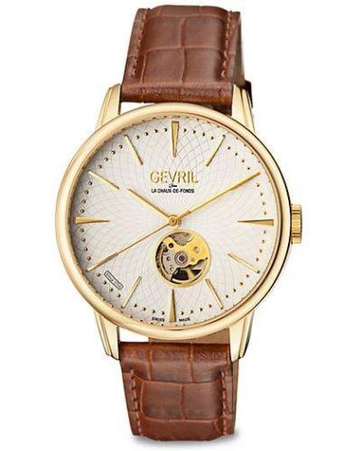 Zegarek na skórzanym pasku skórzany klamry Gevril