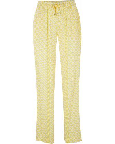 Желтые брюки из вискозы Bonprix