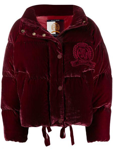 Длинная куртка бархатная на пуговицах Hilfiger Collection