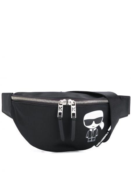 Поясная сумка на молнии черная Karl Lagerfeld