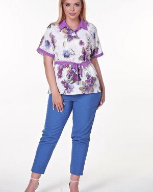 Блузка с поясом с цельнокроеным рукавом Valentina