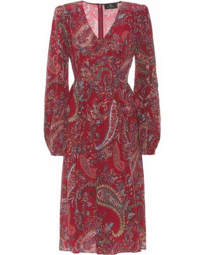 Шелковое платье миди Etro