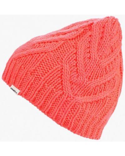 Розовая шапка осенняя O`neill