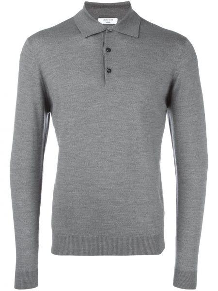 Шерстяная серая рубашка с длинными рукавами Fashion Clinic Timeless