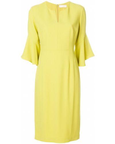 Желтое платье миди Mantu