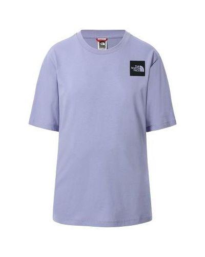 Fioletowa koszulka bawełniana The North Face
