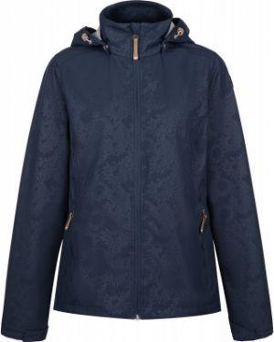 Приталенная синяя куртка с капюшоном мембранная на молнии Icepeak