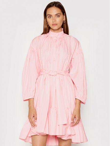 Różowa sukienka casual Msgm