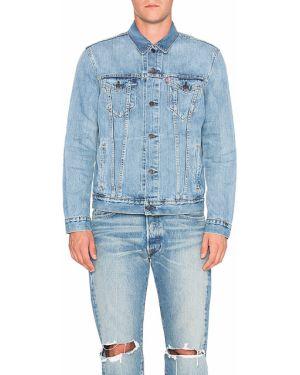 Klasyczne niebieskie jeansy zapinane na guziki Levi's Premium