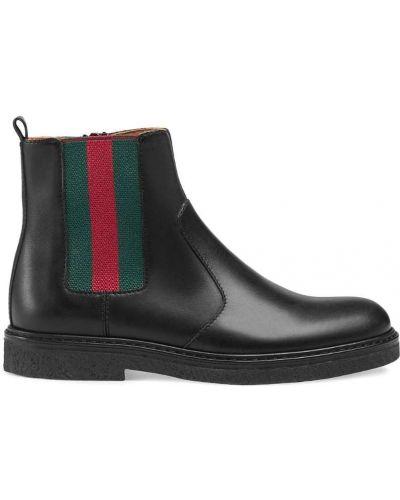 Ботинки черные Gucci Kids