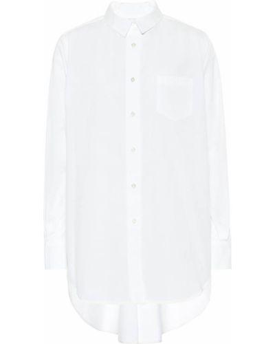 Хлопковая рубашка - белая Sacai