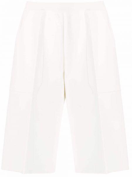 Белые с завышенной талией шорты с поясом Mrz
