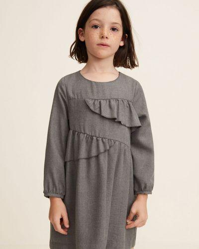 Платье с рукавами длинное однотонное Mango Kids