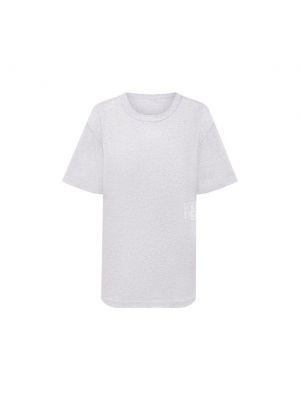 Серая хлопковая футболка Alexanderwang.t
