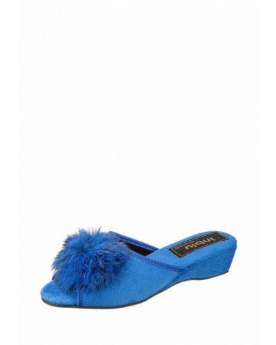 Синие домашние тапочки Inblu