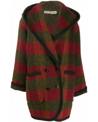 Пальто с капюшоном в клетку пальто Guy Laroche Pre-owned