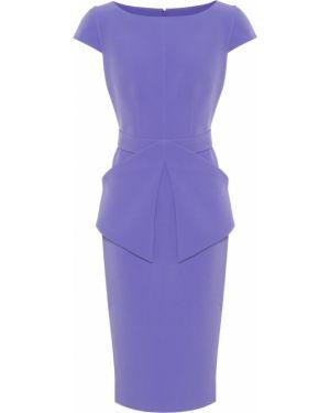 Фиолетовое асимметричное платье миди стрейч Safiyaa