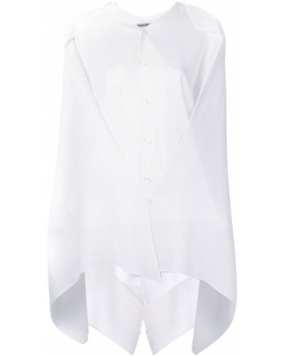 Блузка с драпировкой из полиэстера Issey Miyake