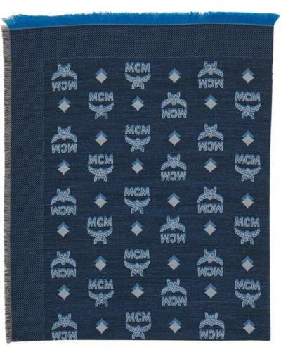 Niebieski szalik Mcm