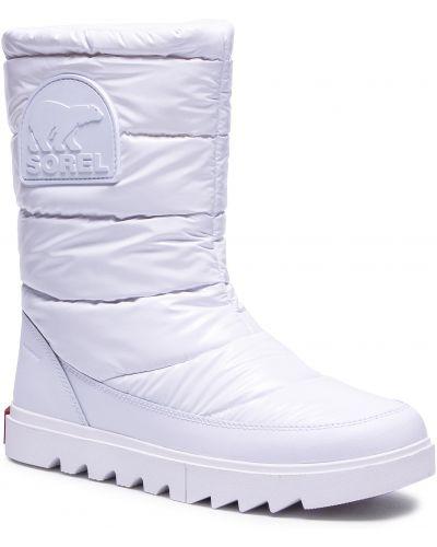Biały śniegowce Sorel