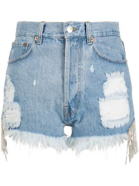 Szare jeansy z wysokim stanem bawełniane Forte Dei Marmi Couture