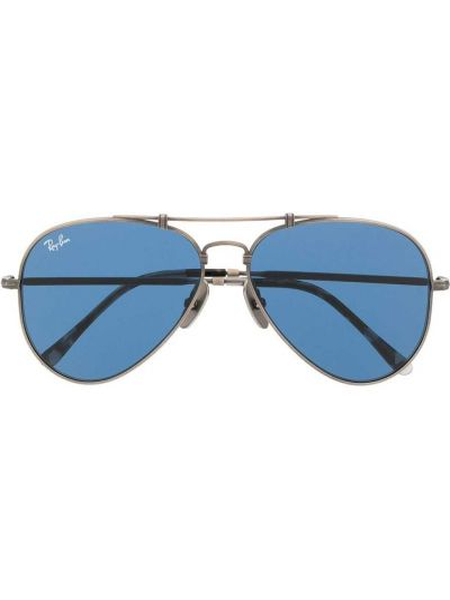 Srebro prosto oprawka do okularów z ozdobnym wykończeniem Ray-ban