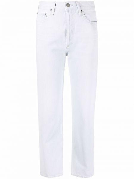 Хлопковые джинсы с потайной застежкой классические Agolde