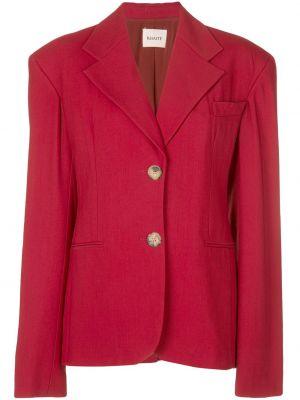 Красный пиджак оверсайз с карманами Khaite